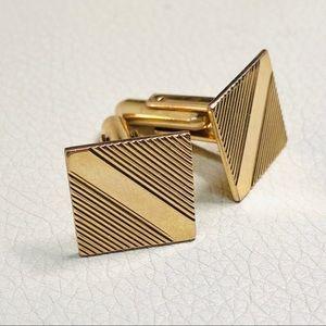 Vintage 70s 10k Gold Filled Cuff Links